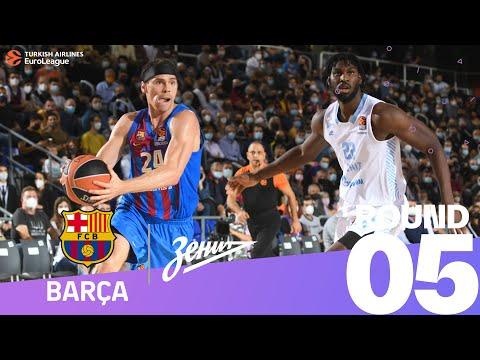 RS Round 5 Highlights: Barcelona 84-58 Zenit