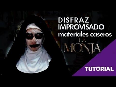 Disfraz de La Monja improvisado con materiales caseros - Tutorial