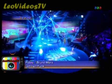 Pablo Martinez es Bruno Mars en  Tu Cara me suena 3 #GH2015 #GranHermano