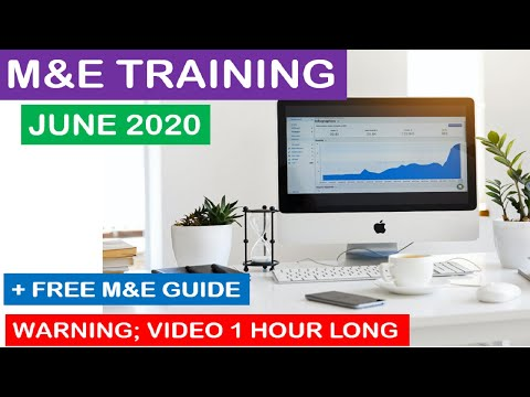 monitoring and evaluation training June 2020 | a Monitoring and ...