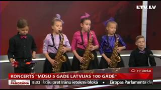 Jāzepa Mediņa Rīgas 1. mūzikas skolas Jaunāko klašu pūtēju orķestra 5 gadu Jubilejas koncerts .