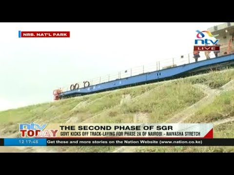 Track-laying for Phase 2A of Nairobi-Naivasha SGR stretch kicks off