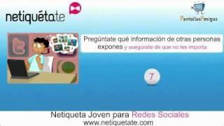 Netiqueta joven para redes sociales (vídeo consejos)