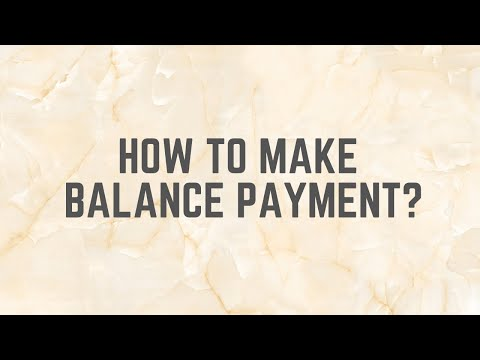 How to make balance payment ?