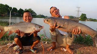 48h Săn Cá Trắm Đên Khủng Cùng Mao Đệ Đệ