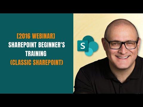 SharePoint Beginner Training for End Users - YouTube