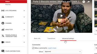 How to declare paid reviews and promotions for Youtube videos