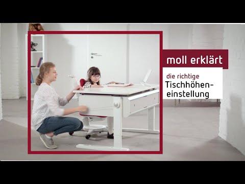 Wie stelle ich die Tischhöhe beim Kinderschreibtisch ein?