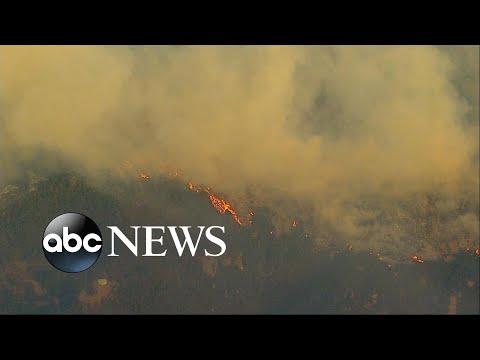 California's Thomas fire intensifying