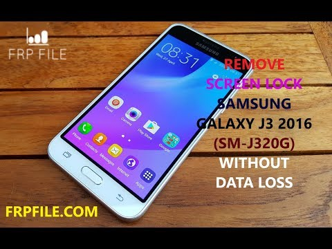 How to Remove Screen lock Samsung Galaxy J3 2016 (SM-J320G) FRP ON