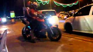 preview picture of video 'Bunch Of Bikers At Penang Gurney Drive'