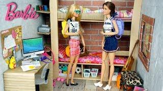 Barbie Cheerleader School  Dorm Room Morning Routine - Titi Toys