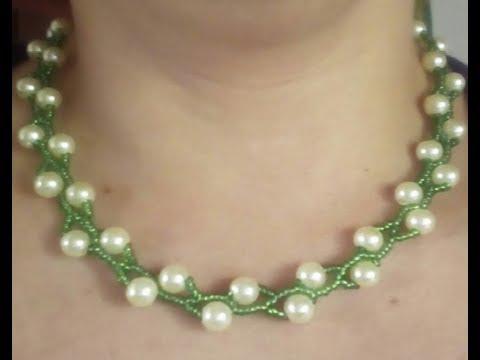 cfcdcab764be Como Hacer un Collar De perlas en Forma de V - Youtube Download