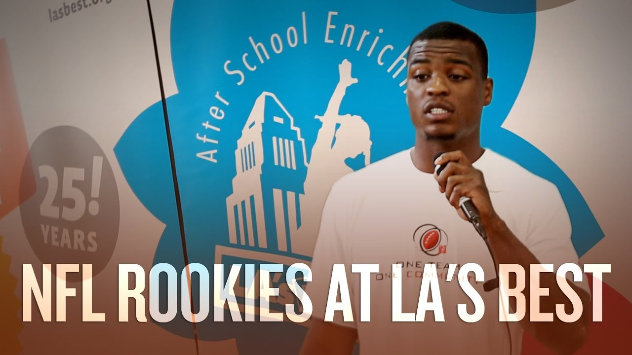 2013 NFL rookies promote childhood nutrition and fitness at LA's BEST thumbnail
