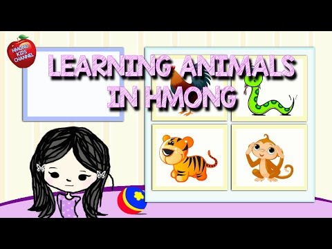 Hmong Channel Learn Hmong Animals with Mai Lee on Hmong Kids Channel