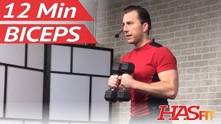 12 Min Dumbbell Bicep Workout - Biceps Workout at Home - Bicep Workout with Dumbbells Bicep Exercise by HASfit
