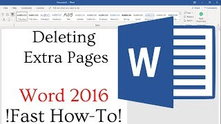 How to delete blank pages in Microsoft Word 2016 FAST