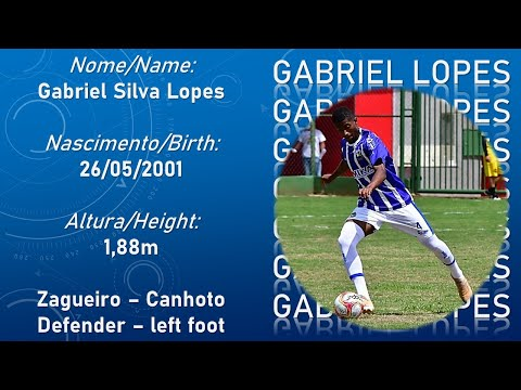 Zagueiro Gabriel Lopes