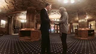 Stephen Biossat proposes to Gena Vennikandam at The Drake Hotel