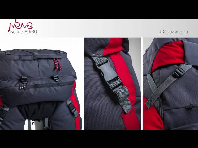 Видео Сумка на багажник Neve Bolide 80L сине-красная
