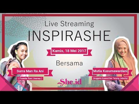 InspiraShe Bersama Surra Man Ra Ani dan Mutia Kusumawardani.