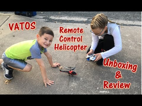 Vatos Remote Control Helicopter Toy Unboxing and Review