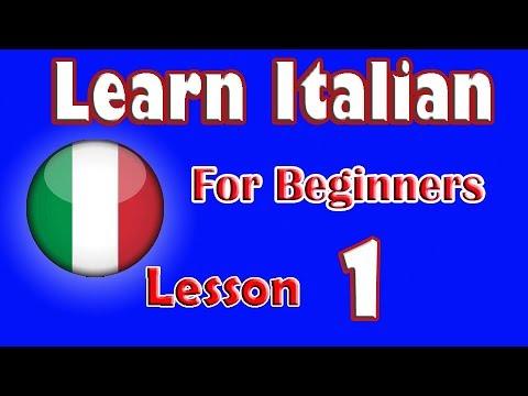 Learn Italian For Beginners Lesson: 1