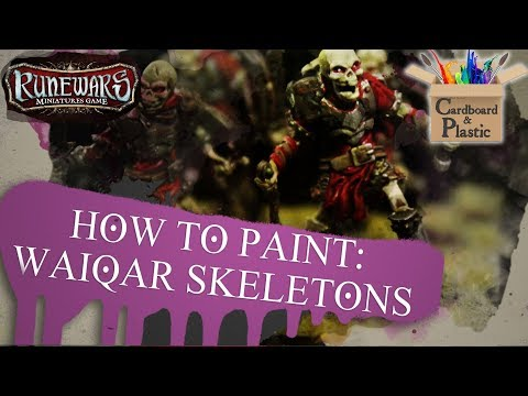 How to Paint Waiqar Skeletons | Runewars Miniatures Game