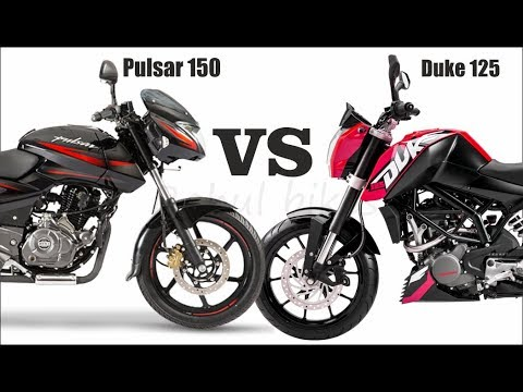 KTM Duke 125 VS Pulsar 150 UG5 Duel Disk Whitch Is Best Compare With All Features Price Mileage etc