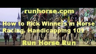 How To Pick Winners In Horse Racing. Handicapping 101. Part 1.