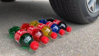 Experiment Car vs Coca Cola, Fanta, Mirinda Balloons | Crushing Crunchy & Soft Things by Car | #104