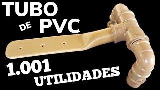 TUBO DE PVC 1001 UTILIDADES, VEJA UMA DELAS, MOSTRAMOS AQUI COMO FAZER UMA DOBRADIÇA DE CANO PVC