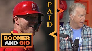 Mike Trout is getting PAID by the Los Angeles Angels | Boomer & Gio
