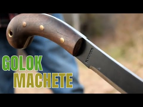 CONDOR GOLOK MACHETE REVIEW 1075 HIGH CARBON STEEL WITH LEATHER SHEATH