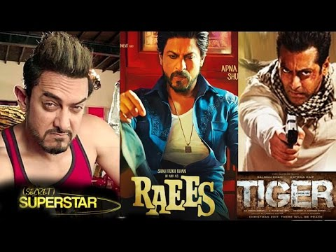 Download Big Bollywood Movie Releases In 2017 - Tubelight,Raees,Tiger Zinda Hai - Salman,Shahrukh,Aamir HD Video