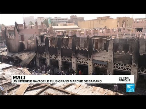 Mali : 160 pompiers tentent de sauver le marché de Bamako
