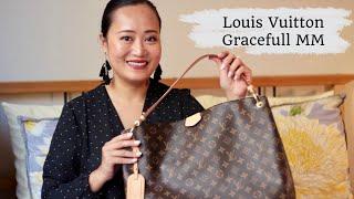 Louis Vuitton Graceful MM Bag Review / Monogram Coated Canvas Print