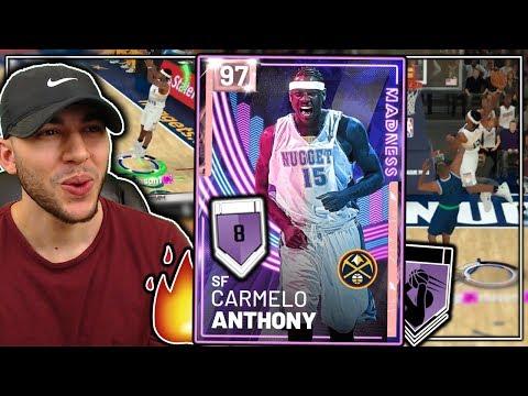 *NEW* PINK DIAMOND CARMELO ANTHONY GAMEPLAY! HOF LIMITLESS RANGE! NBA 2K19 MyTeam