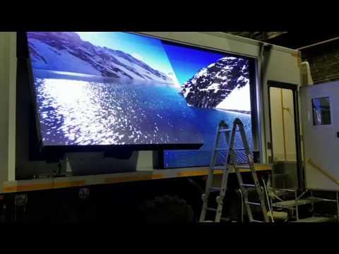 Светодиодные экраны для мобильных комплексов оповещения