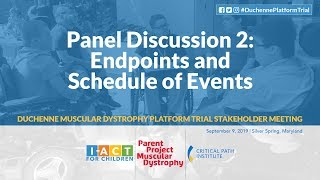 DPT Meeting: Panel 2  – Endpoints & Schedule of Events