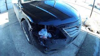 крыло бампер восстановление Toyota Camry