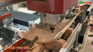 MÁY CNC MỘNG ÂM 4 Đầu Woodmaster Cắt Ván Plywood bằng Mũi Router Chuyen nghiệp như Máy Cnc Trung tâm