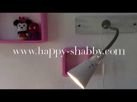 Genial! Genialer Ikea Kvart Hack - Tischlampe zur Wandlampe / Leselampe - DIY - Shabby Chic Look