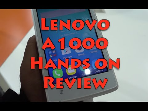 Lenovo A1000 India Hands on Review, Camera and Features Overview