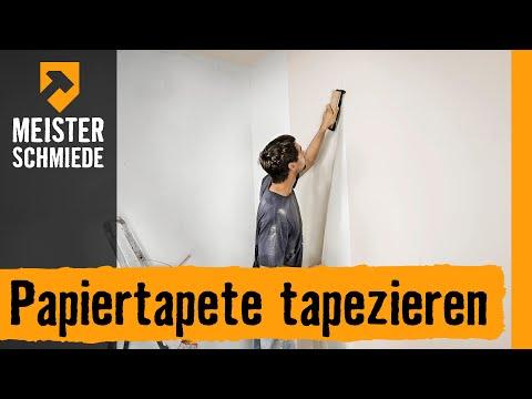 Papiertapete tapezieren | HORNBACH Meisterschmiede