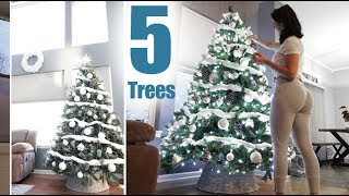 Behind the Scenes | 5 Christmas tree's | Turning my home into a winterwonderland