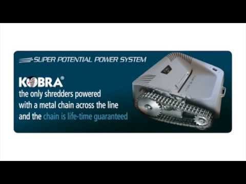 Video of the KOBRA 260.1 HS Shredder
