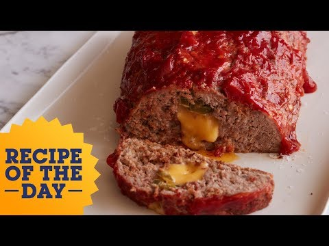 Recipe of the Day: Stuffed Queso Meatloaf | Food Network
