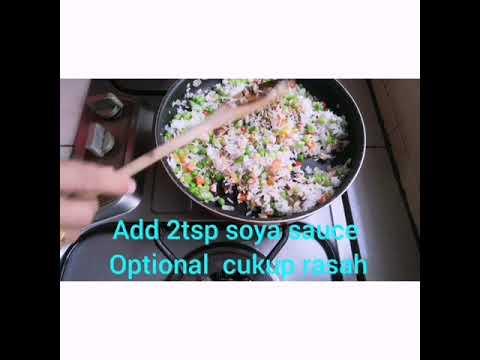 Malaysian Fried Rice, (Nasi Goreng bungkus Malaysia) My style @erigie kitchen