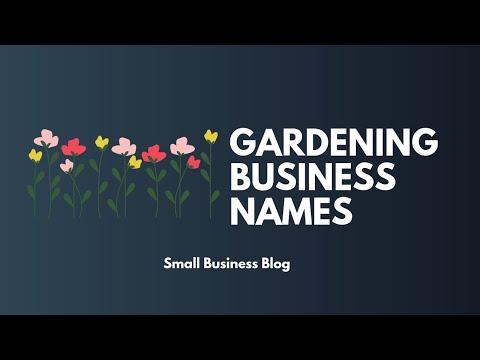 , title : 'Best Gardening Business Names